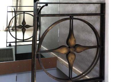 Portillons en acier et laiton patiné